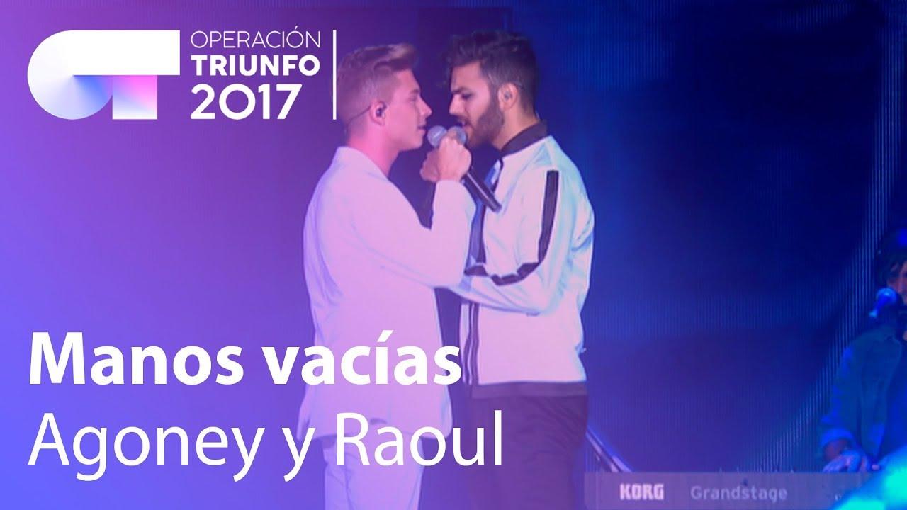 Raoul y Agoney Manos Vacias Concierto OT Madrid - YouTube