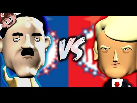 ADOLF HITLER vs DONALD TRUMP (Political Machine 2016)