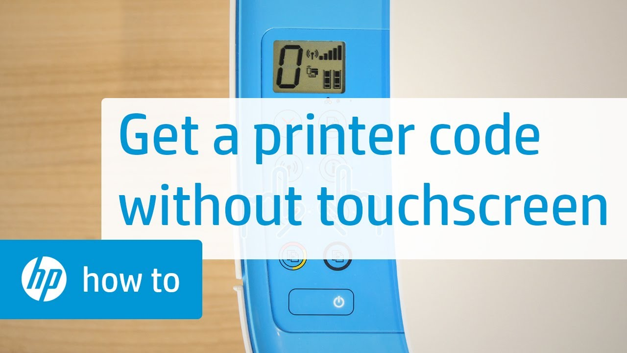 How To Get the Printer Code for HP Printers Without a Touchscreen Display |  HP Printers | HP