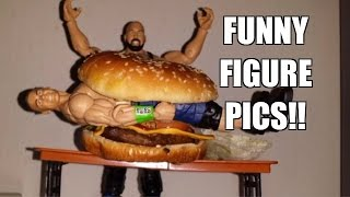 WWE FUNNY FIGURE PICS Review! Mattel Wrestling Action Figures Poses Fun