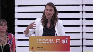 Meritxell Serret. La democràcia n es jutja repressió govern espanyol no ens aturarà, l'1O votarem