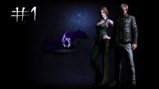 Resident Evil 6 (PC) - Leon / Helena Campaign Co-Op Walkthrough Part 1 - Chapter 1