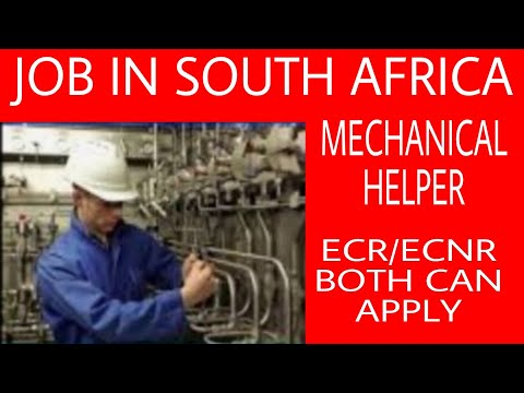 Job In South | Mechanical Helper Job In South Africa | South Africa Employment Visa | Latest Vacancy