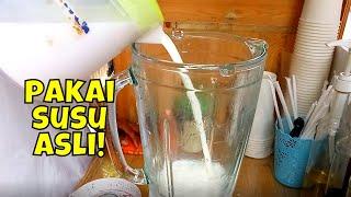 Minuman kekinian!! Membuat susu segar | Indonesia street food in jakarta