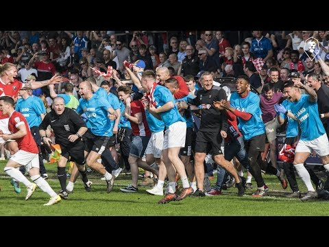 THE MOMENT SALFORD CITY WERE PROMOTED TO THE NATIONAL LEAGUE!