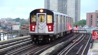 MTA New York City Subway : Pelham Bay Park Bound R142A 6 Express Train @ Elder Avenue