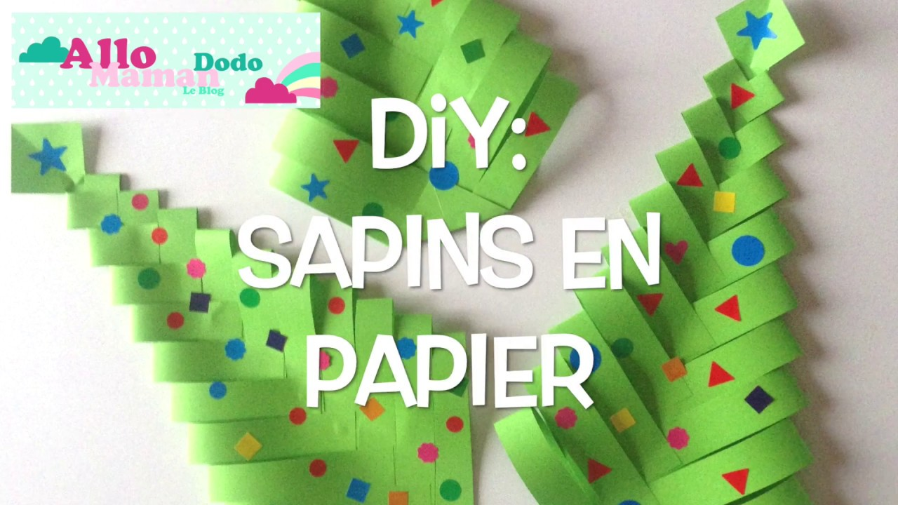 diy sapins de no l en papier bricolage facile pour no l. Black Bedroom Furniture Sets. Home Design Ideas