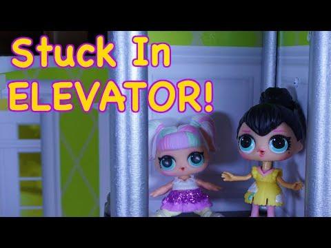 LOL SURPRISE DOLLS Get Stuck In Broken Elevator!