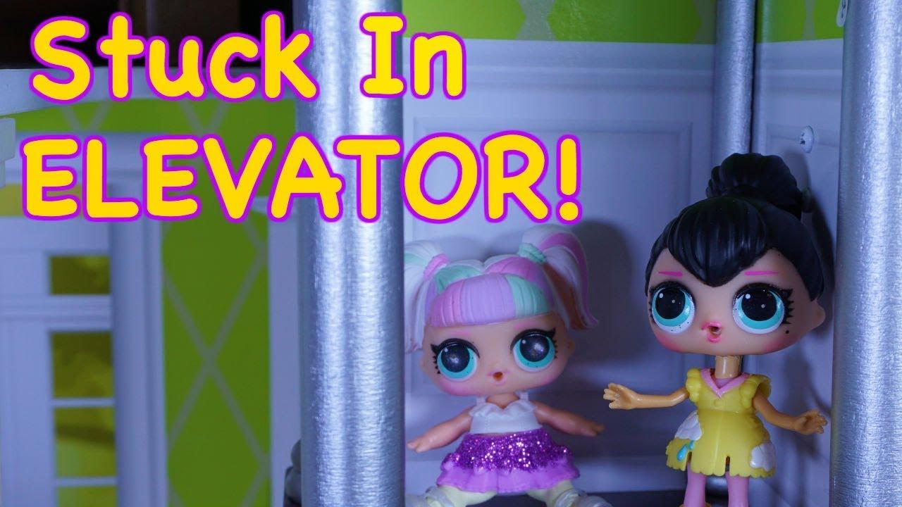 Lol Surprise Dolls Get Stuck In Broken Elevator Youtube