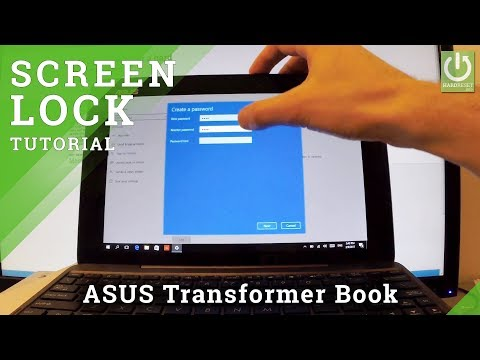How to Set Up Password in ASUS T100 Transformer Book - Screen Lock