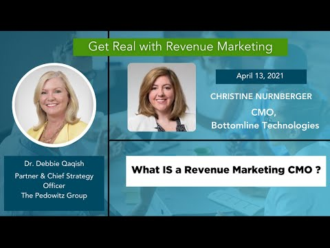 What IS a Revenue Marketing CMO?