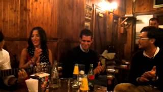 Gemma Evora y Moi en el toril
