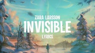 Zara Larsson - Invisible (Lyrics) (from the Netflix Film Klaus)
