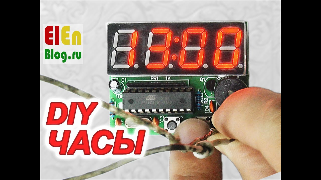 Конструктор часы будильник AT89C2051 - YouTube