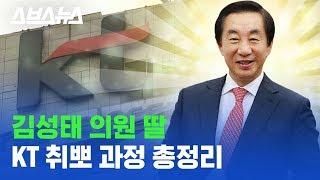'KT 취업 성공 치트키?' 김성태 자유한국당 의원 딸 부정 채용 의혹 알려드림 / 스브스뉴스