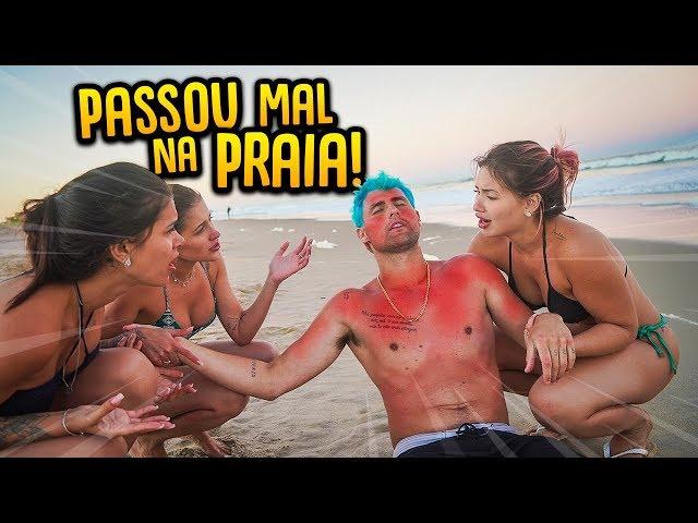 PASSEI MUITO MAL NA PRAIA DURANTE O VÍDEO!! ( ELA CUIDOU DE MIM ) [ REZENDE EVIL ]