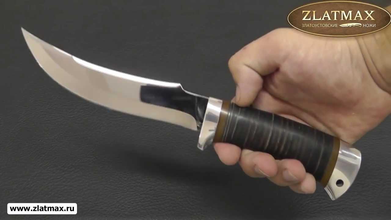 Видео Нож охотничий НС-22 (40Х10С2М, Наборная кожа, Алюминий)
