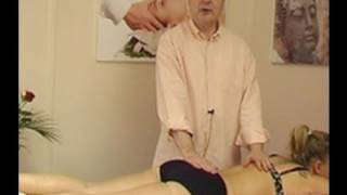 Medical massage for the coccyx or tailbone