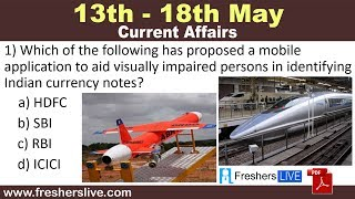13 May to 18 May 2019 Weekly Current Affairs | Top Current Affairs May 2019