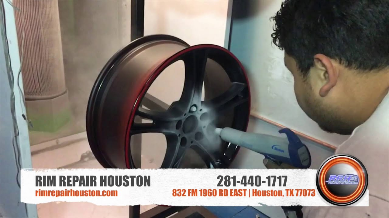Powder Coating 2 Rim Repair Houston Youtube