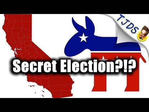 CA. Dem. Party Holding Secret Election - Go Vote
