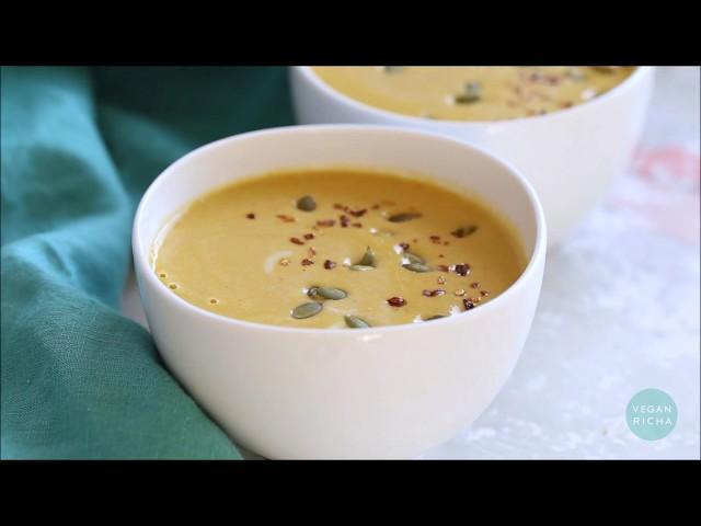INSTANT POT PUMPKIN SOUP (stove top option) | Vegan Richa Recipes