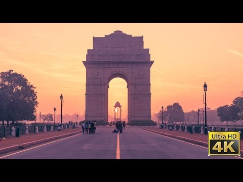India gate | Sunrise | Timelapse | 4K | UHD