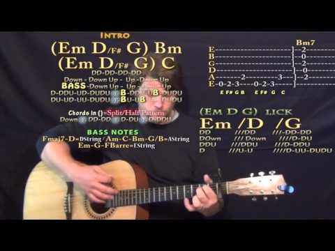 Liquor (Chris Brown) Guitar Lesson Chord Chart - Capo 1st