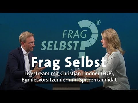 "Livestream: ""Frag Selbst"" mit Christian Lindner (FDP)"