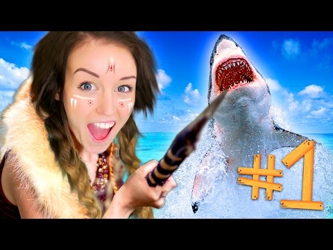 ATTACKED BY SHARKS!!! - RAFT #1