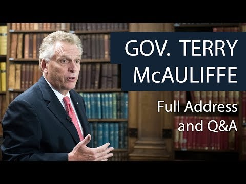 Governor Terry McAuliffe | Full Address and Q&A at The Oxford Union