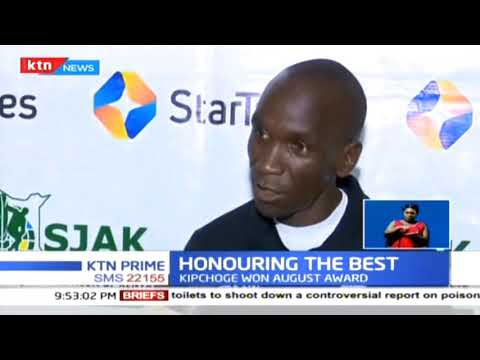 Athletes Beatrice Chepkoech and Eliud Kipchoge win Kenya\'s Sports Personality of the month