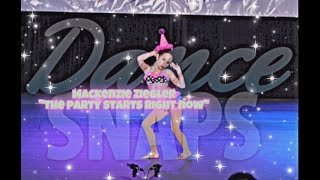 Mackenzie Ziegler - The Party Starts Right Now (Full Solo)