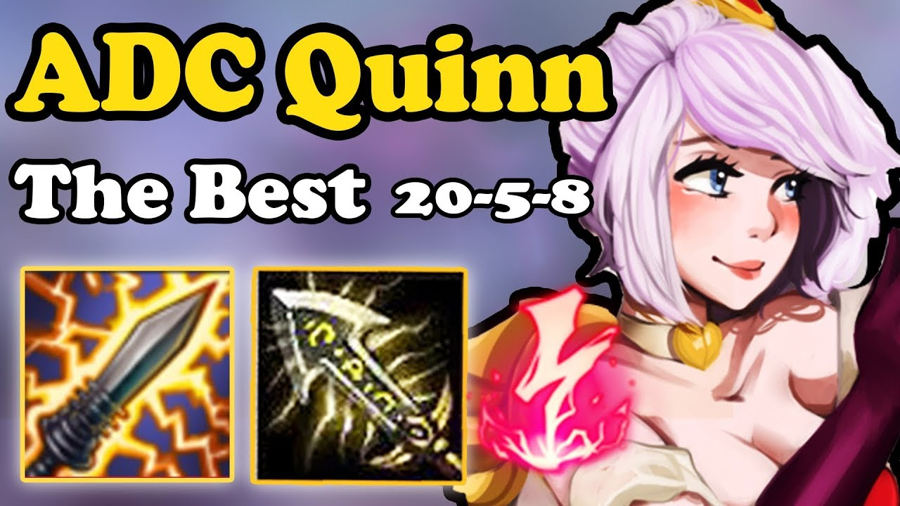 ADC QUINN?! ASSASSINATION IS BACK | LEGENDARY QUINN ADC FULL BUILD WITH  ELECTROCUTE | S8 LOL 7 24B