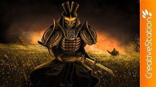 Golden Samurai - Speed Painting (#Photoshop) | CreativeStation