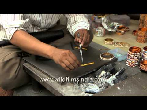 Making of India's famous 'Lac Bangles'