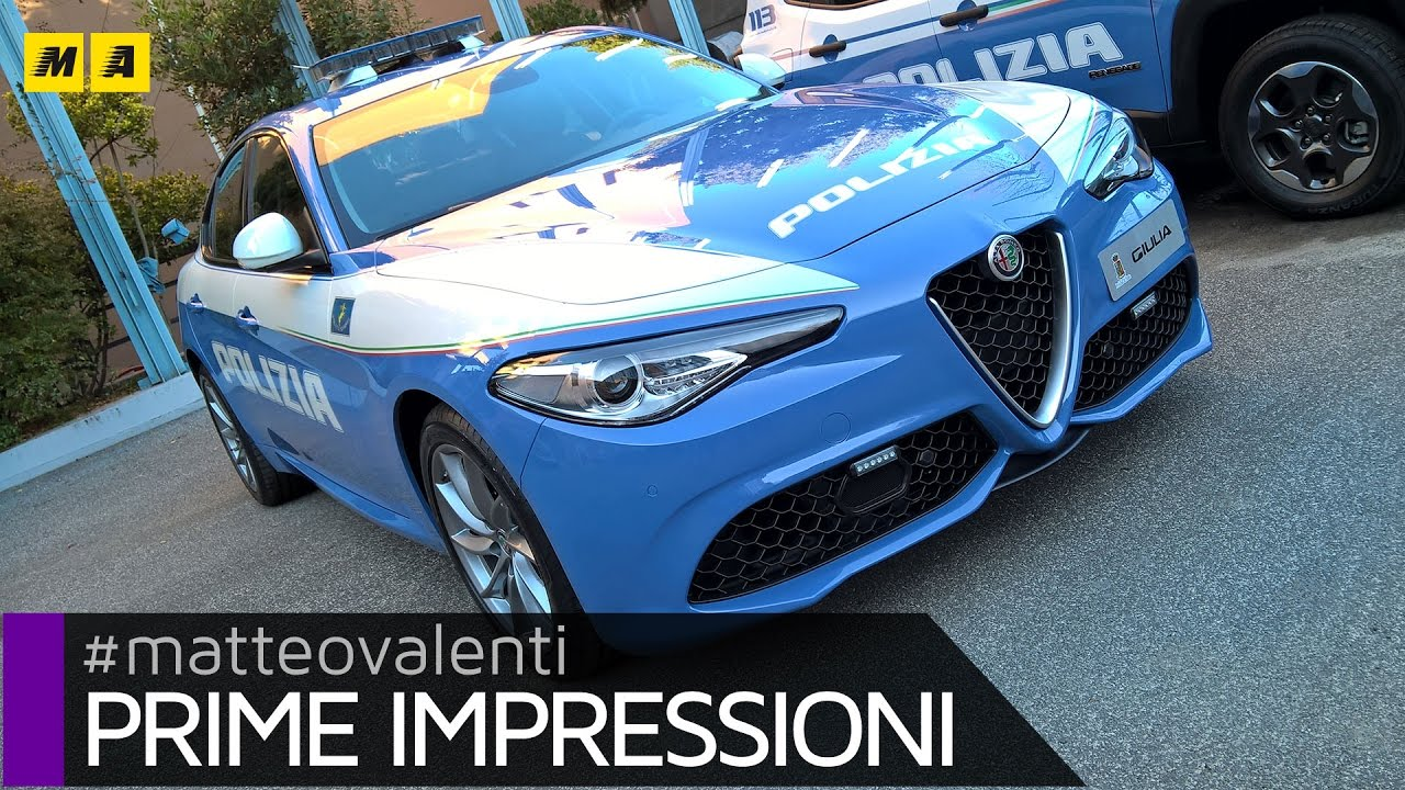 the alfa romeo giulia veloce q4 starts working for the italian police. Black Bedroom Furniture Sets. Home Design Ideas