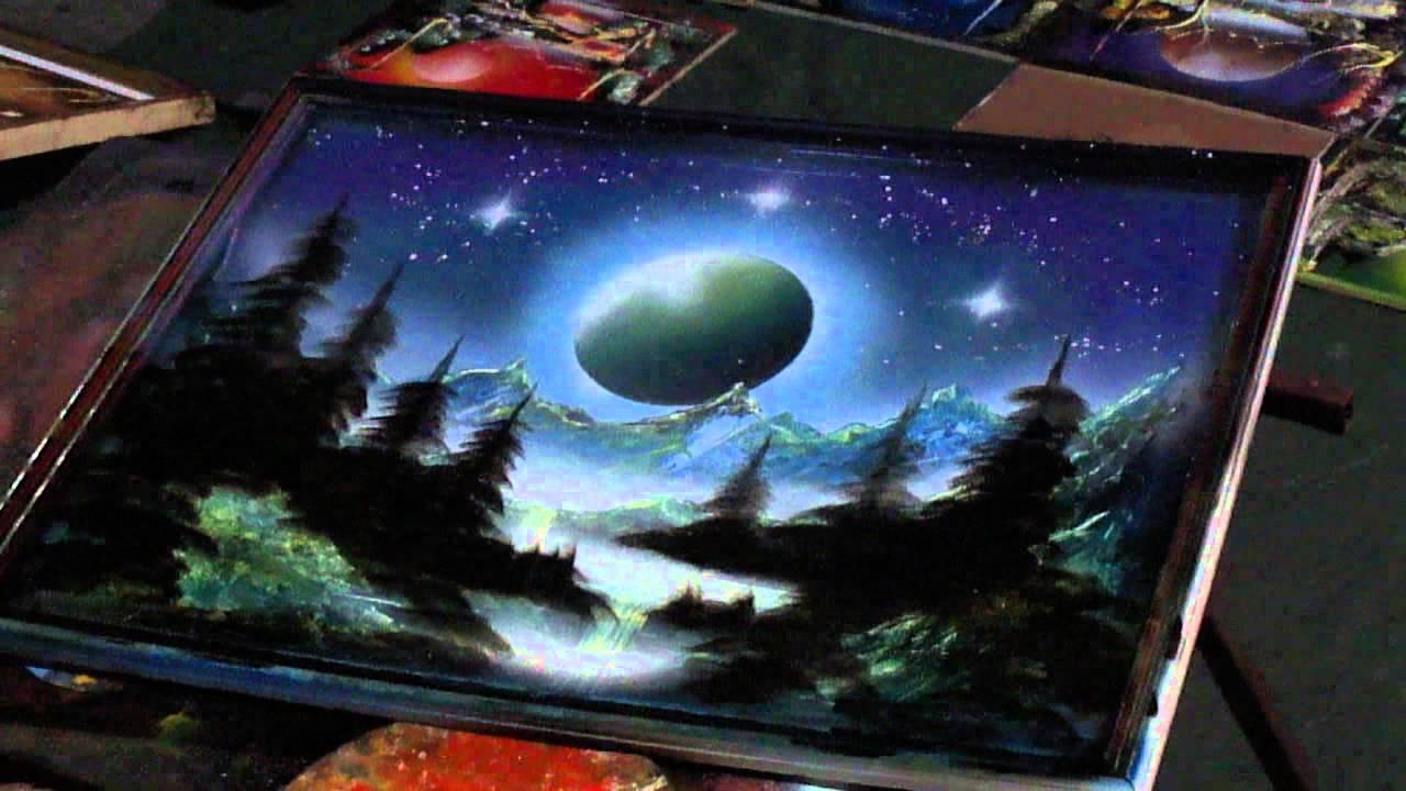 Cuadros paisajes aerografia hd youtube - Pintura con spray ...