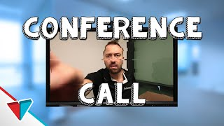 Stupid unnecessary meetings at work - Conference Call