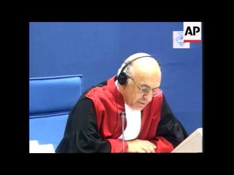 Holland - War criminal suspect pleads not guilty