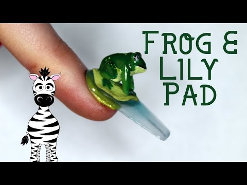 Extreme 3D Frog on a Lily Pad Acrylic Nail Art Tutorial thumbnail