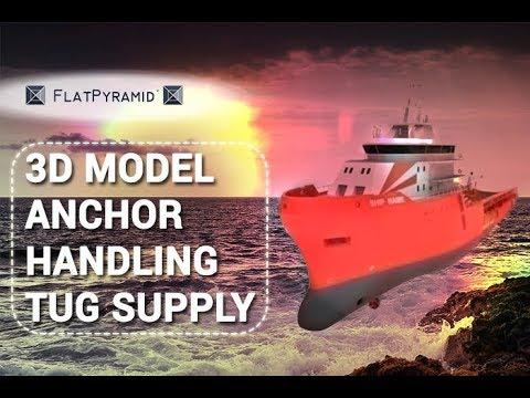 3D Model Anchor Handling Tug Supply