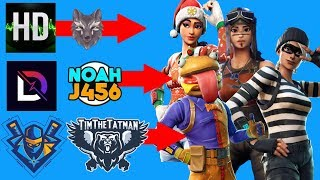 BEST STREAMER SKIN COMBOS IN FORTNITE! (Ninja, DrLupo, Dark, & More!)