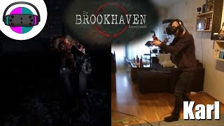 VR: Karl's first time playing The Brookhaven Experiment, 2 waves and a gentle spook