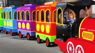 Lev rides on the train | The wheels on the bus song for kids by Liova
