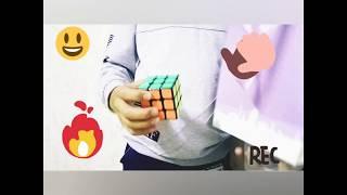 Эффектный фокус с кубиком рубиком.