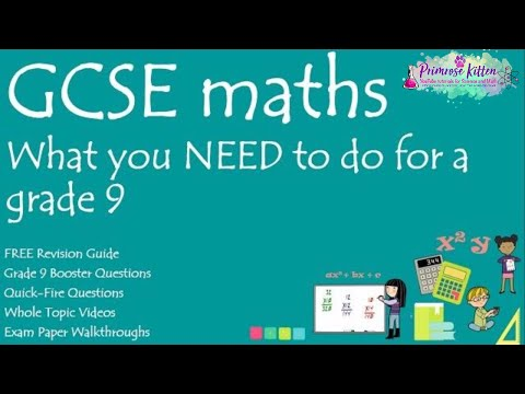 What you NEED to do to get a grade 9 in your GCSE Maths