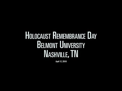 Holocaust Remembrance Day at  Belmont University