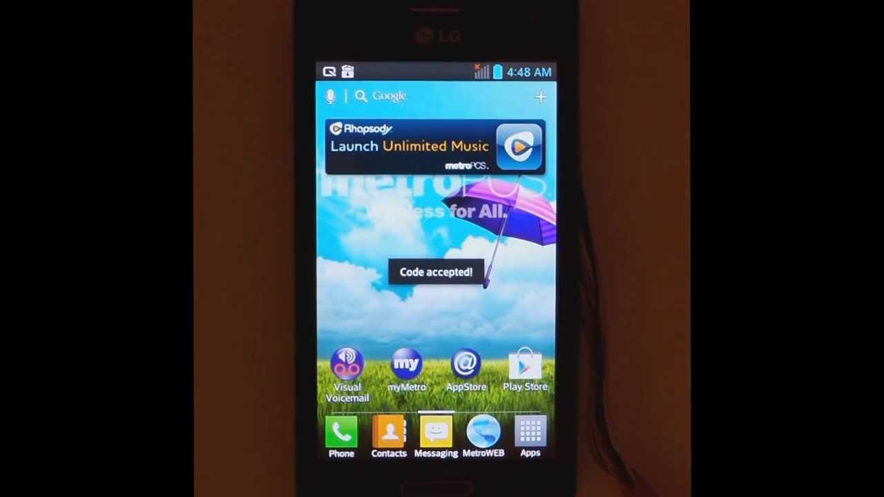 LG MS659 (Optimus F3) Unlock with Octoplus Box