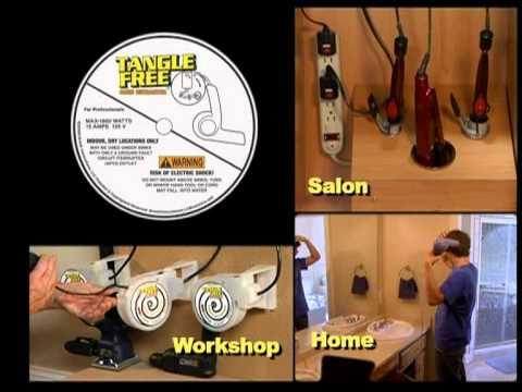 tangle free cord retractor youtube. Black Bedroom Furniture Sets. Home Design Ideas